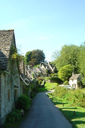 The Arlington Row of weavers' cottages in Bibury