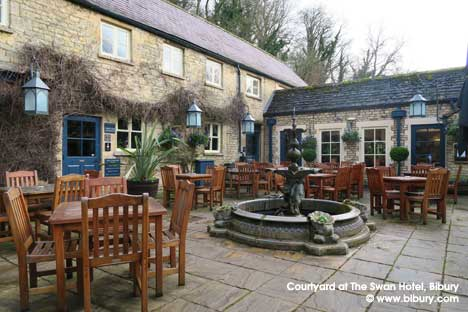 The Courtyard at The Swan Hotel in Bibury